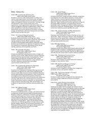 CUUL - Culinary Arts CUUL 1000 - Fundamentals of Culinary Arts ...