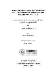 development of efficient biometric recognition algorithms based on ...
