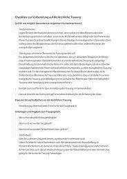 Checkliste zur Vorbereitung auf die kirchliche Trauung