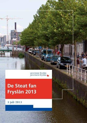 2 Staat van Fryslan.pdf - Provincie Fryslân
