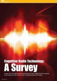 Cognitive Radio Technology: - my Convergence Magazine