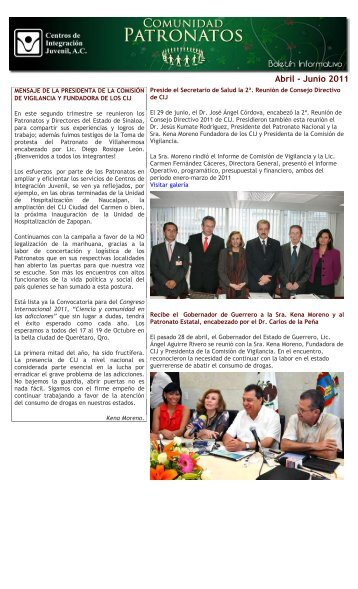 Abril-Junio 2011 - Centros de Integración Juvenil