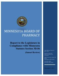 Minnesota Board of Pharmacy - Joint Departments and Commissions