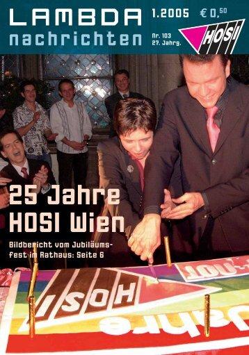 25 Jahre HOSI Wien - LAMBDA-Nachrichten