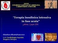 Terapia insulinica intensiva nella fase acuta - Anmco