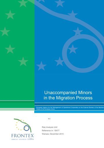 Unaccompanied Minors in the Migration Process - Frontex