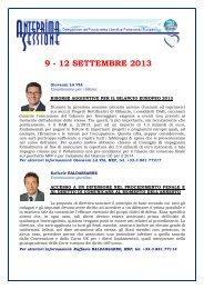 Sessione plenaria Anteprima a cura della ... - Erminia Mazzoni