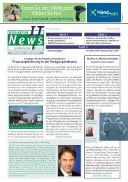 Industrial IT News März:Industrial IT News.qxd - IT & Production