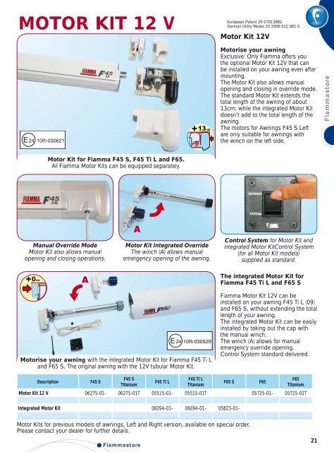 Standard Fiamma 123cm Crank Handle