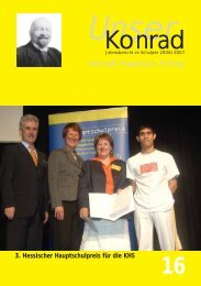 Gedichte über die KHS - Konrad-Haenisch-Schule