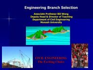 Why Civil Engineering? - Faculty of Engineering - Monash University