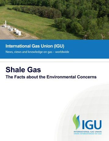 Shale Gas, The Facts about the Environmental Concerns June 2012
