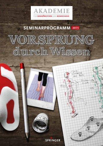 """Seminarprogramm 2015 """"Vorsprung durch Wissen"""""""