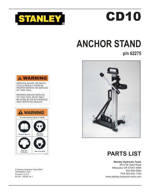 CD10 Anchor Stand indd - KW Hydraulik GmbH