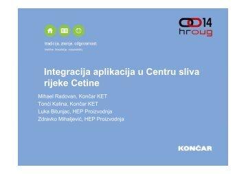 Integracija aplikacija u Centru sliva rijeke Cetine j - HrOUG