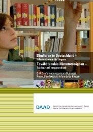 PDF (2,1 MB) - DAAD-Informationszentrum Budapest