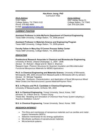 Mems phd resume