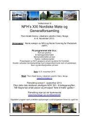 NFH's XXI Nordiske Møte og Generalforsamling