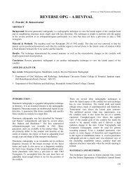 REVERSE OPG - A REVIVAL. C. Pravda, D. Koteeswaran. - Aosr.co.in