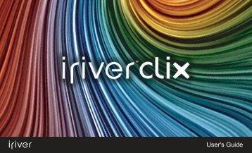 iRiver CLIX 2 User Manual - Pocket PC Central