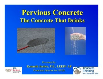 Pervious Concrete - The Concrete That Drinks