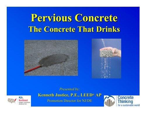 Pervious Concrete - The Concrete That Drinks