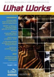 Ausgabe 1 Ausgabe 1-2008 - TDWI Germany eV