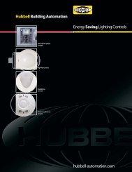 HubbellBuilding Automation EnergySavingLighting Controls hubbell ...