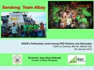 Salceda_Team Albay_Jan 06 2012-NSCB Fellowship Lunch