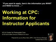 Working at CPC: Information for Instructor Applicants - UCLA Center ...