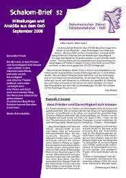 Schalom-Brief Nr. 52 - Oekumenischer Dienst Schalomdiakonat