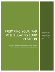 PREPARING YOUR iPAD WHEN LEAVING YOUR POSITION