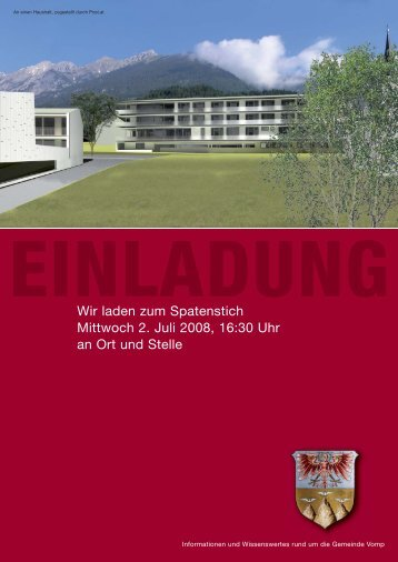Download Informationsbroschüre - Gemeinde Vomp