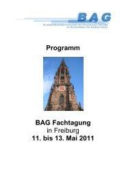 Programm BAG Fachtagung in Freiburg 11. bis 13. Mai 2011