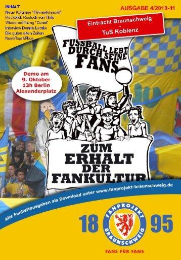 Heft 04: TuS Koblenz - FanPresse Braunschweig
