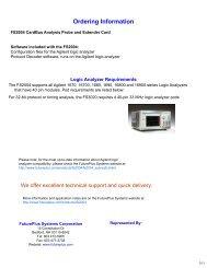 FS2004 Data Sheet - FuturePlus Systems