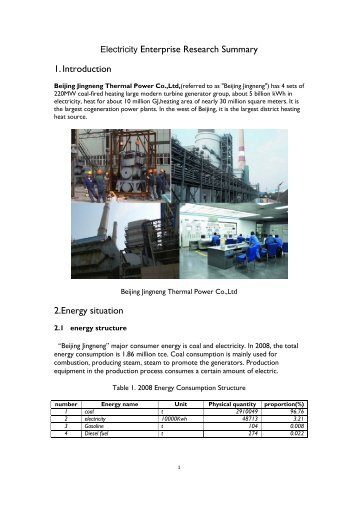 Electricity Enterprise Research Summary 1 ... - REEEP Toolkits