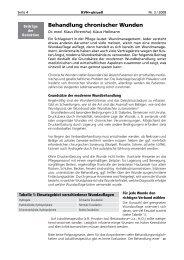 Wundversorgung / Behandlung chronischer Wunden / Verbandstoffe