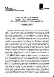 ENSAYO SOBRE LA MODERNIDAD DE LA CRÍTICA LITERARIA ...
