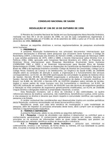 RESOLUÇÃO Nº 182, DE 10 DE ABRIL DE 1996