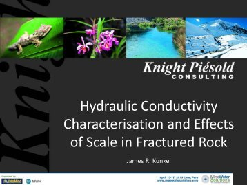 Hydraulic conductivity characterization of fractured rock at mine sites