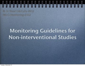 NIS Considerations - Monitoring Guidelines - CHCUK