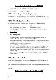 Protokoll der 1. SMV Sitzung 2011/2012