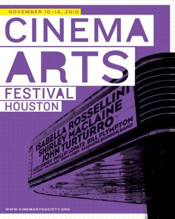 Download the 2010 Program Booklet - Houston Cinema Arts Society