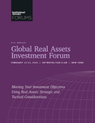 Institutional Investor Forums – Global Real Assets Investment ...