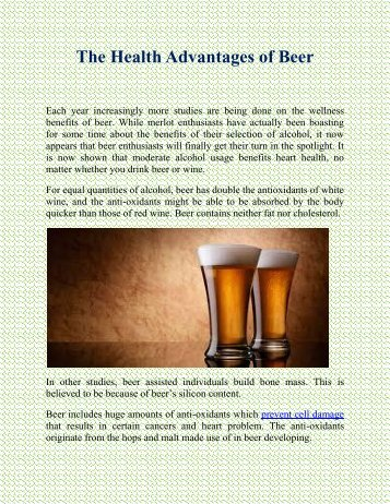 The Health Advantages of Beer