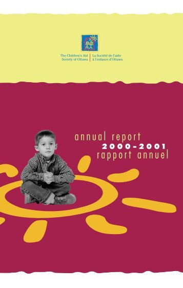 Rapport annuel 2000-2001 - The Children's Aid Society