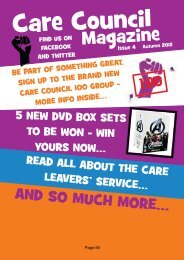Care Council Magazine Issue 4 Autumn 2012 , item 7/13 PDF 3 MB