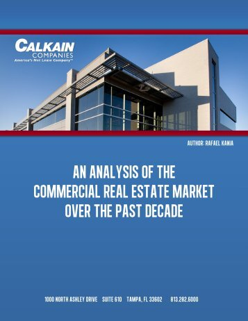 An Analysis of the Commercial Real Estate Market Over the Past ...
