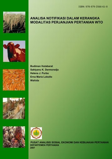 analisa notifikasi dalam kerangka modalitas perjanjian pertanian wto